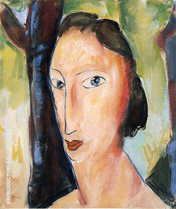 Head of a Woman 3 By Alfred Henry Maurer Replica Paintings on Canvas - Reproduction Gallery
