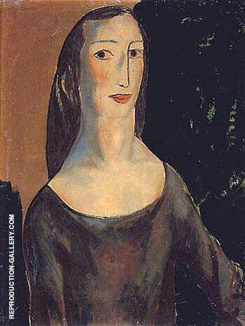 Head of a Woman By Alfred Henry Maurer