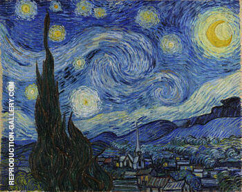 Starry Night 1889 By Vincent van Gogh