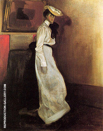 Jeanne in Interior 1901 By Alfred Henry Maurer - Oil Paintings & Art Reproductions - Reproduction Gallery
