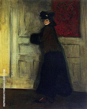 Lady with Muff c1904 By Alfred Henry Maurer