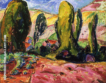 Landscape 1909 By Alfred Henry Maurer - Oil Paintings & Art Reproductions - Reproduction Gallery