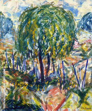Landscape c 1915 By Alfred Henry Maurer