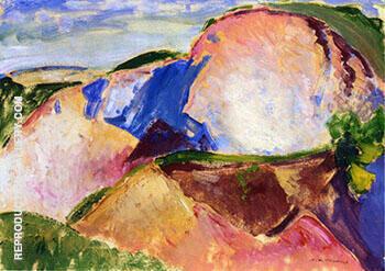 Landscape c1916 1 By Alfred Henry Maurer