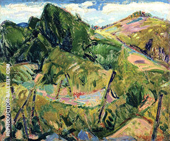 Landscape c1916 By Alfred Henry Maurer - Oil Paintings & Art Reproductions - Reproduction Gallery