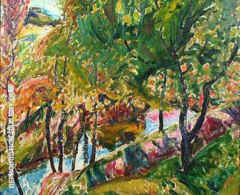Landscape c1920 By Alfred Henry Maurer