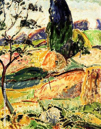 Landscape near Oberstdorf Autumn By Alfred Henry Maurer