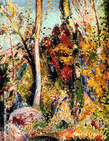 Landscape with Trees 1909 By Alfred Henry Maurer
