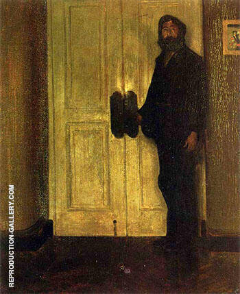 Man at the Door By Alfred Henry Maurer - Oil Paintings & Art Reproductions - Reproduction Gallery