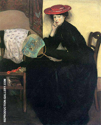 Model with a Japanese Fan By Alfred Henry Maurer