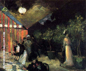 Paris Cafe 1904 By Alfred Henry Maurer