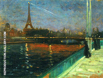 Paris Nocturne By Alfred Henry Maurer - Oil Paintings & Art Reproductions - Reproduction Gallery