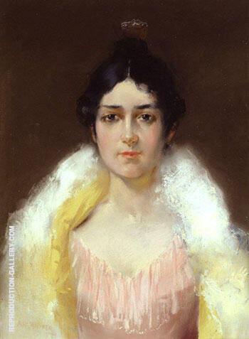 Portrait 1894 By Alfred Henry Maurer