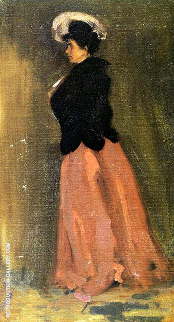 Portrait of Rosalie Fitzpatrick Riz 1902 By Alfred Henry Maurer - Oil Paintings & Art Reproductions - Reproduction Gallery