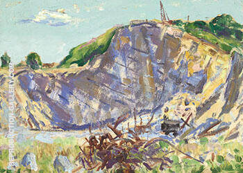 Quarry Shadybrook By Alfred Henry Maurer - Oil Paintings & Art Reproductions - Reproduction Gallery