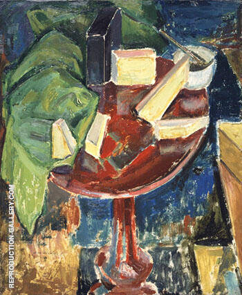 Reproduction of Red Table Top Still-Life c1919 by Alfred Henry Maurer | Oil Painting Replica On CanvasReproduction Gallery