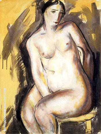 Seated Figure 1927 By Alfred Henry Maurer