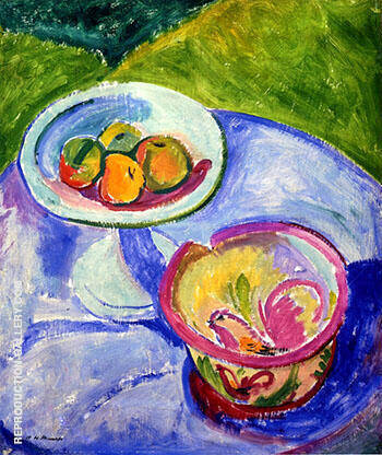 Still Life 1908 By Alfred Henry Maurer - Oil Paintings & Art Reproductions - Reproduction Gallery