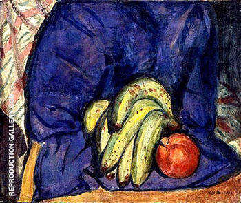 Still Life with Banana and Pomegranate c1912 By Alfred Henry Maurer - Oil Paintings & Art Reproductions - Reproduction Gallery