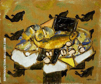 Still Life with Fish c1927 By Alfred Henry Maurer Replica Paintings on Canvas - Reproduction Gallery
