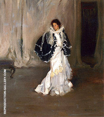 Reproduction of The Black Cape c1901 by Alfred Henry Maurer | Oil Painting Replica On CanvasReproduction Gallery