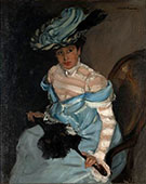The Black Parasol Gabrielle c1924 By Alfred Henry Maurer