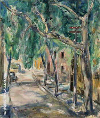 Tree Lined Street in Summer By Alfred Henry Maurer - Oil Paintings & Art Reproductions - Reproduction Gallery