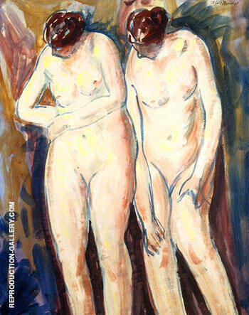 Two Figures c1927 Painting By Alfred Henry Maurer - Reproduction Gallery