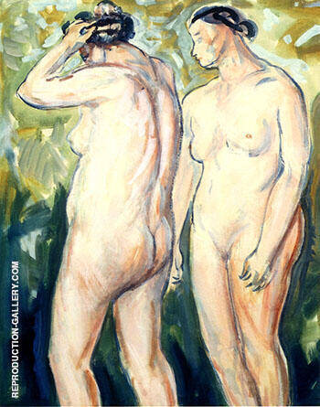 Two Figures c1927 1 By Alfred Henry Maurer - Oil Paintings & Art Reproductions - Reproduction Gallery