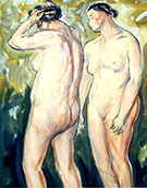 Two Figures c1927 1 By Alfred Henry Maurer