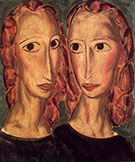 Two Heads c1924 By Alfred Henry Maurer