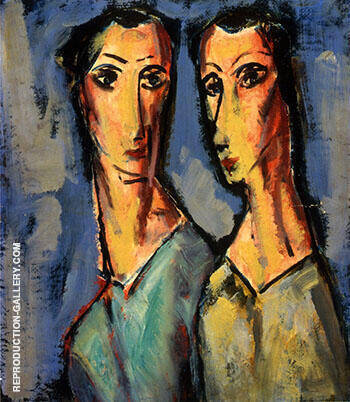Two Heads c1928 By Alfred Henry Maurer