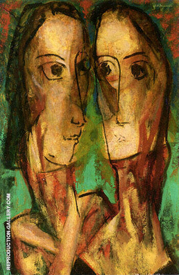 Two Heads c1928 1 Painting By Alfred Henry Maurer - Reproduction Gallery
