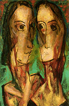 Two Heads c1928 1 By Alfred Henry Maurer