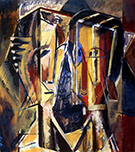 Two Heads with Yellow Background c1928 By Alfred Henry Maurer