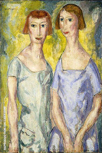 Two Sisters 2 By Alfred Henry Maurer - Oil Paintings & Art Reproductions - Reproduction Gallery
