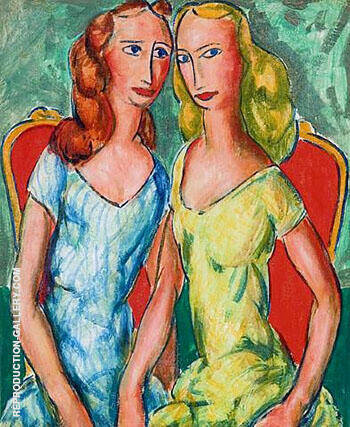 Two Sisters Painting By Alfred Henry Maurer - Reproduction Gallery