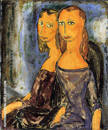 Two Women c1926 By Alfred Henry Maurer - Oil Paintings & Art Reproductions - Reproduction Gallery