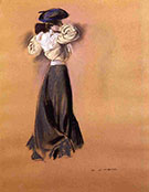 Woman in a Blue Hat c1900 By Alfred Henry Maurer