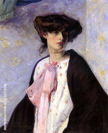 Woman with a Pink Bow Painting By Alfred Henry Maurer
