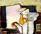 Yellow Pear and Roll c1920 By Alfred Henry Maurer