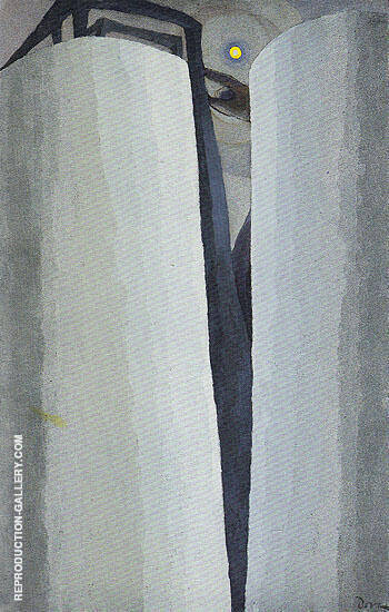 Silver Tanks and Moon 1930 By Arthur Dove Replica Paintings on Canvas - Reproduction Gallery