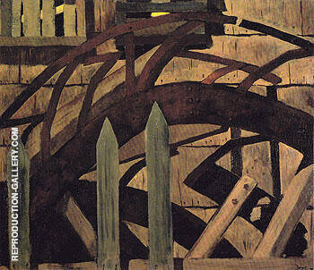 Reproduction of The Mill Wheel Huntington Harbor 1930 by Arthur Dove | Oil Painting Replica On CanvasReproduction Gallery
