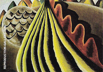 Reproduction of Fields of Grain as Seen from Train 1931 by Arthur Dove | Oil Painting Replica On CanvasReproduction Gallery