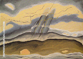 Sun Drawing Water 1933 By Arthur Dove - Oil Paintings & Art Reproductions - Reproduction Gallery
