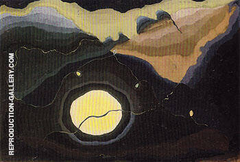 Me and the Moon 1937 By Arthur Dove