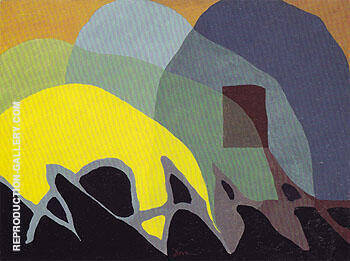 Reproduction of Dancing Willows 1943 by Arthur Dove | Oil Painting Replica On CanvasReproduction Gallery