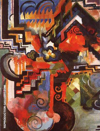 Coloured Composition Hommage a Johann Sebastian Bach 1912 By August Macke