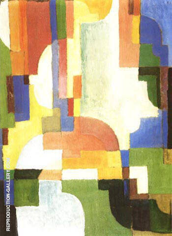 Coloured Forms I 1913 By August Macke - Oil Paintings & Art Reproductions - Reproduction Gallery