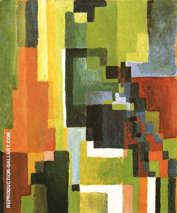 Coloured Forms II 1913 By August Macke - Oil Paintings & Art Reproductions - Reproduction Gallery